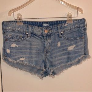 BDG distressed jean shorts